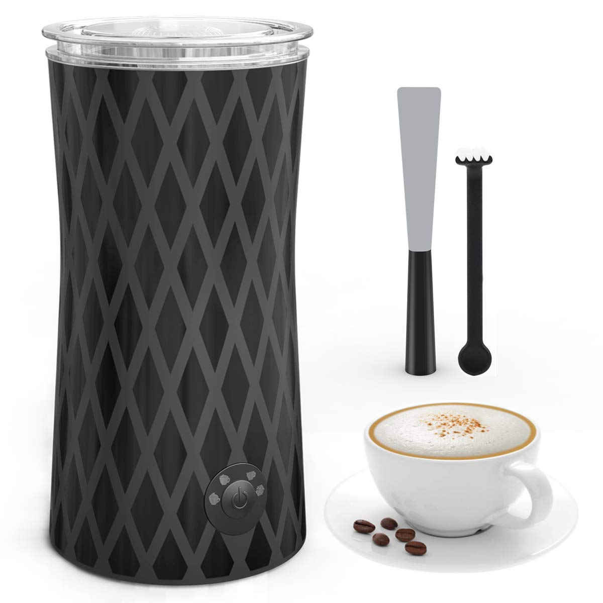 Automatic Milk Frother and Warmer, morpilot Electric Milk Foamer with Silent Operation, 4 Modes, Heats Milk | Froths Warm & Cold Foam for Coffee, Hot Chocolate, Cappuccino, Latte (400W, 250ML)