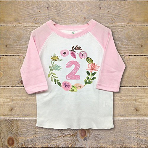 Second Birthday Shirt 2nd Outfit Clothes Girl Two (Pretty Party Outfit)