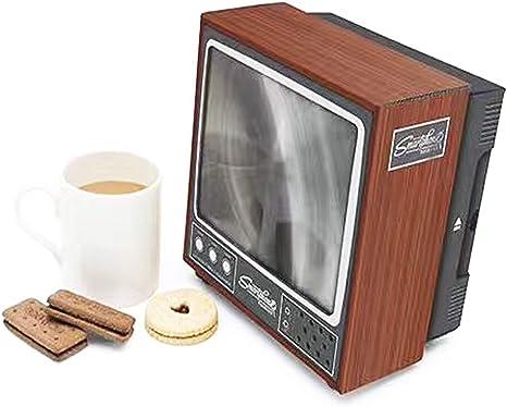 Bospyaf Lupa De Pantalla De Teléfono Móvil, Amplificador De Video 3D HD, Bricolaje Creativo, Estilo De TV Retro: Amazon.es: Hogar