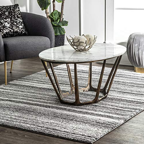 nuLOOM Jordan Contemporary Area Rug, 5' x 8', Gray (Jordan Home Furniture)