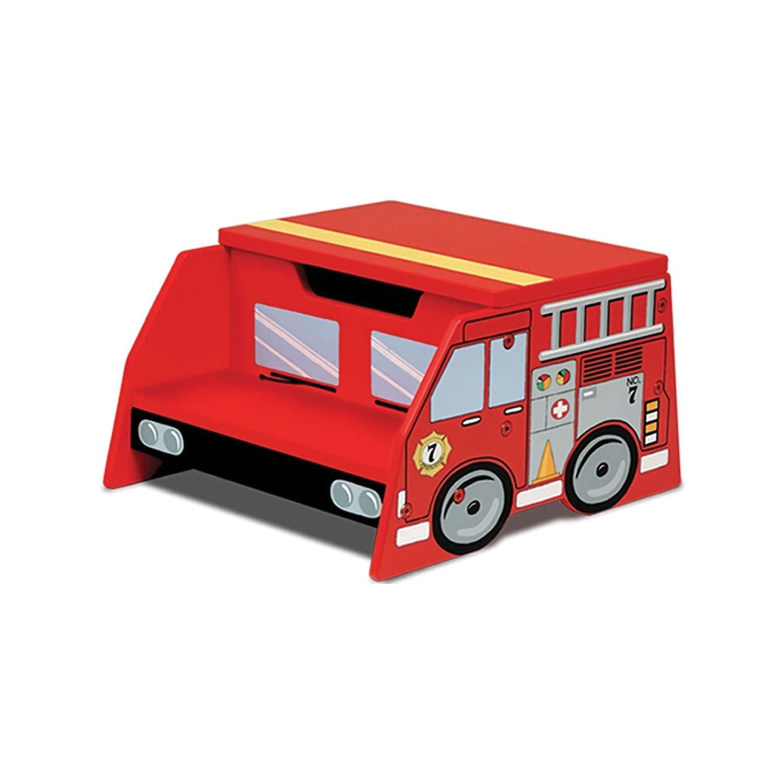 KidKraft Firetruck Step N Store 76023