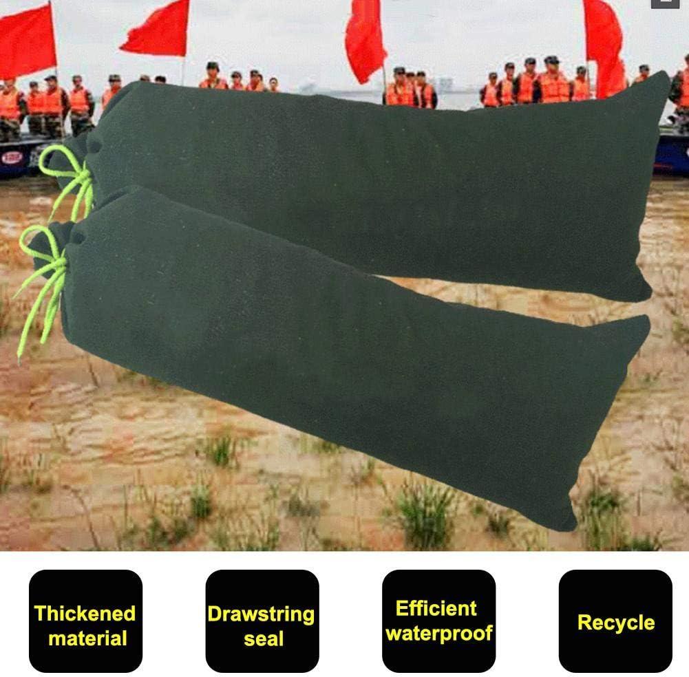 Saco de Arena Resistente a Las inundaciones Maliyaw Saco de Arena Engrosado de Lona con Lazos de Cierre de cord/ón