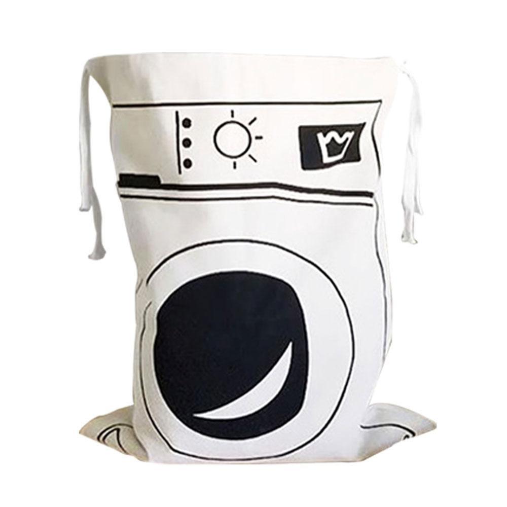 Tela lavanderia–Pawaca grande borsa di cotone coulisse organizer portaoggetti per giocattoli abbigliamento casa Baby nursery uso, 65x 45cm Alphabet Pattern