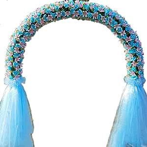 SUNNAIYUAN Arcos metálicos, Jardín Pergola decoración de la Boda Arco El Soporte está rodeado de Flores Artificiales y Hilo de Seda for la Novia del Partido Celebración de Apertura (Color : B):