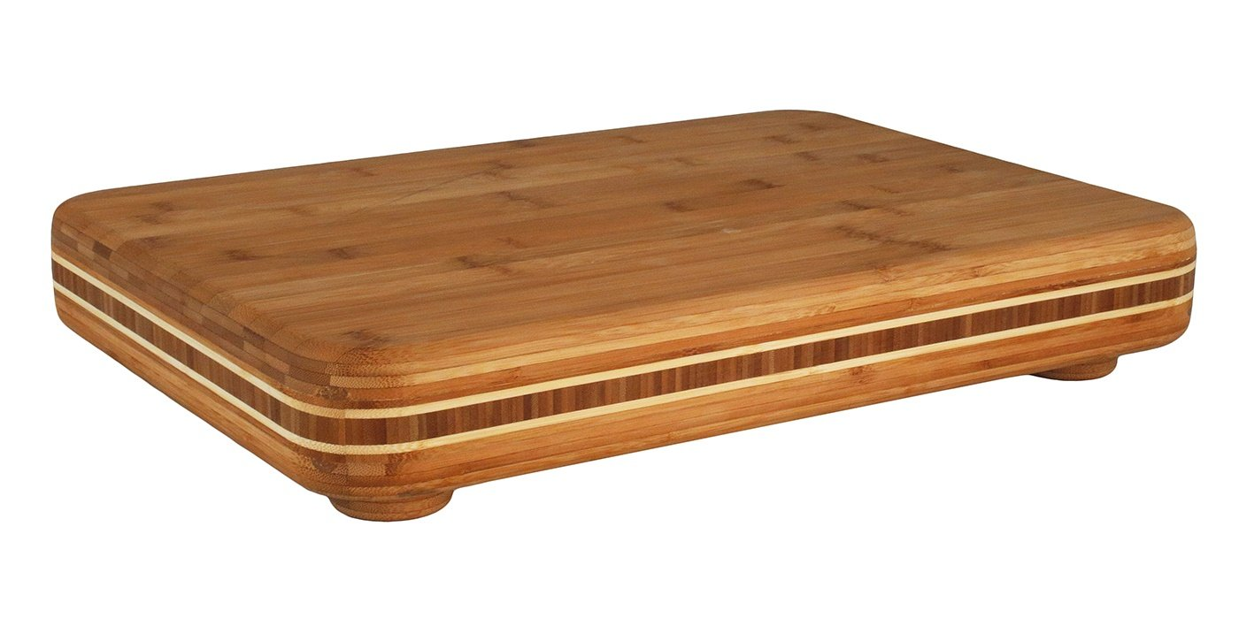 Big Easy Chopping Block 19  x 13.5  Totally Bamboo 3-Bowl Bamboo Butcher Block with Stainless Steel Prep Bowls, 22  x 16-1 2  x 1-1 2