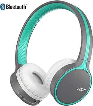 inphic Auriculares Bluetooth, reproducción Las 24 Horas, estéreo de Alta fidelidad, Bluetooth 5.0, Over Ear Auriculares inalámbricos con micrófono para iPhone, teléfono Samsung, PC, TV: Amazon.es: Electrónica