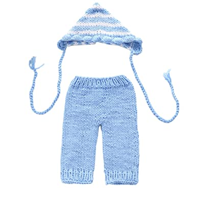 Zhhlaixing Fashion Newborn Boy Girl Costume Baby Photography Props Outfits Hat Pant