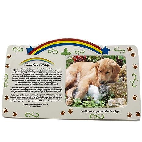 b723766e9267 Amazon.com  BANBERRY DESIGNS Pet Bereavement Photo Frame Rainbow Bridge  Poem  Pet Supplies