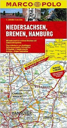 Marco Polo Karte Deutschland 03 Niedersachsen Bremen Hamburg 1
