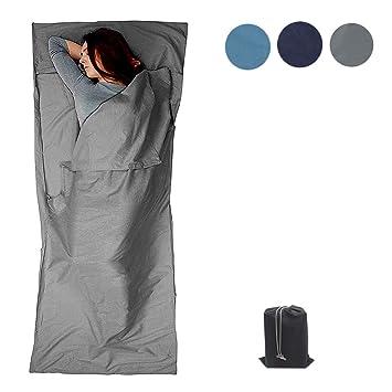 GLin, Saco de Dormir Ligero de algodón Suave, sábana de Viaje de Camping con
