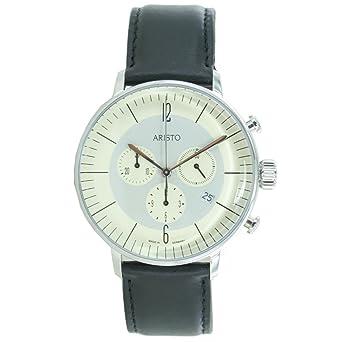 Chronograph Aristo Edelstahl LederUhren Uhr 4h177 Herren k0XON8nwP