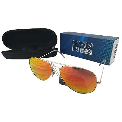 Dabuty Online, S.L. Gafas de Sol Polarizadas Unisex. RPD. Aviador Red