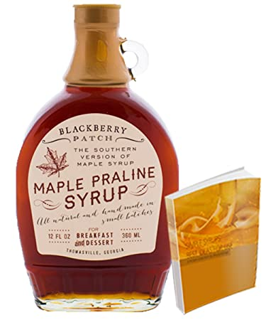 Maple Praline Syrup 12floz from Blackberry Patch All Natural Handmade | For pancakes crepes or waffles