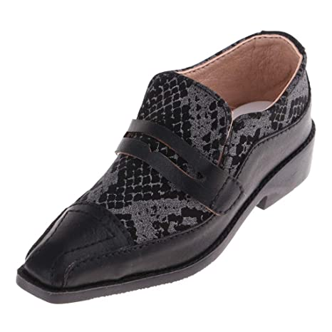 Baoblaze Lindas Zapatillas en Miniatura Traje Accesorios para Muñecas Muchachos Tío Articulada de 70cm - Negro