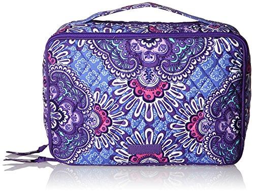 Vera Bradley Large Blush and Brush Makeup Case, Lilac Tapestry