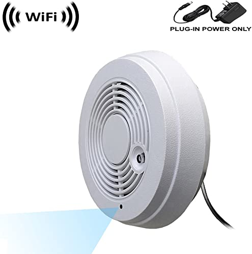 WF-402V Sony 1080p IMX323 Chip Super Low Light Spy Camera with WiFi Digital IP Signal, Recording Remote Internet Access, Camera Hidden in a Fake Smoke Detector 12VDC, Wall Mount