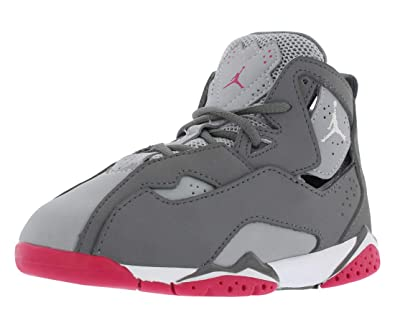 f8875baeee216 Jordan Nike True Flight GT baby-girls fashion-sneakers 645071 (9 M US  Toddler, Grey Grey Pink Pink)