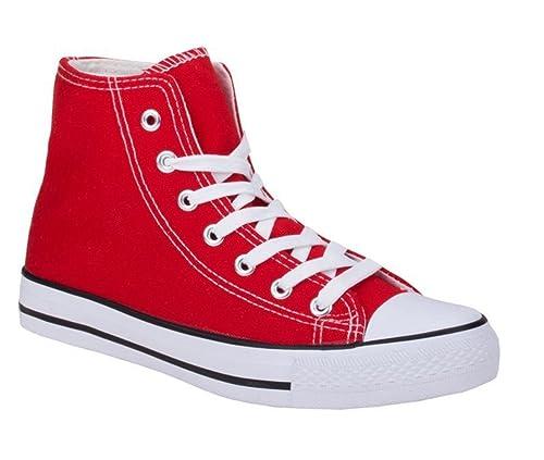 Jumex Damen Sneakers Freizeit Turnschuhe High Top Schuhe
