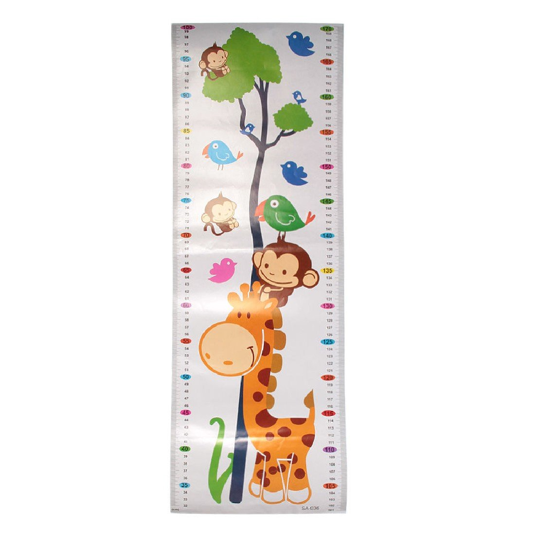 1Pc Height Chart Growth Measure Decal Wall Sticker For Kids Removable Pvc Cartoon Art Mural Children ASTrade