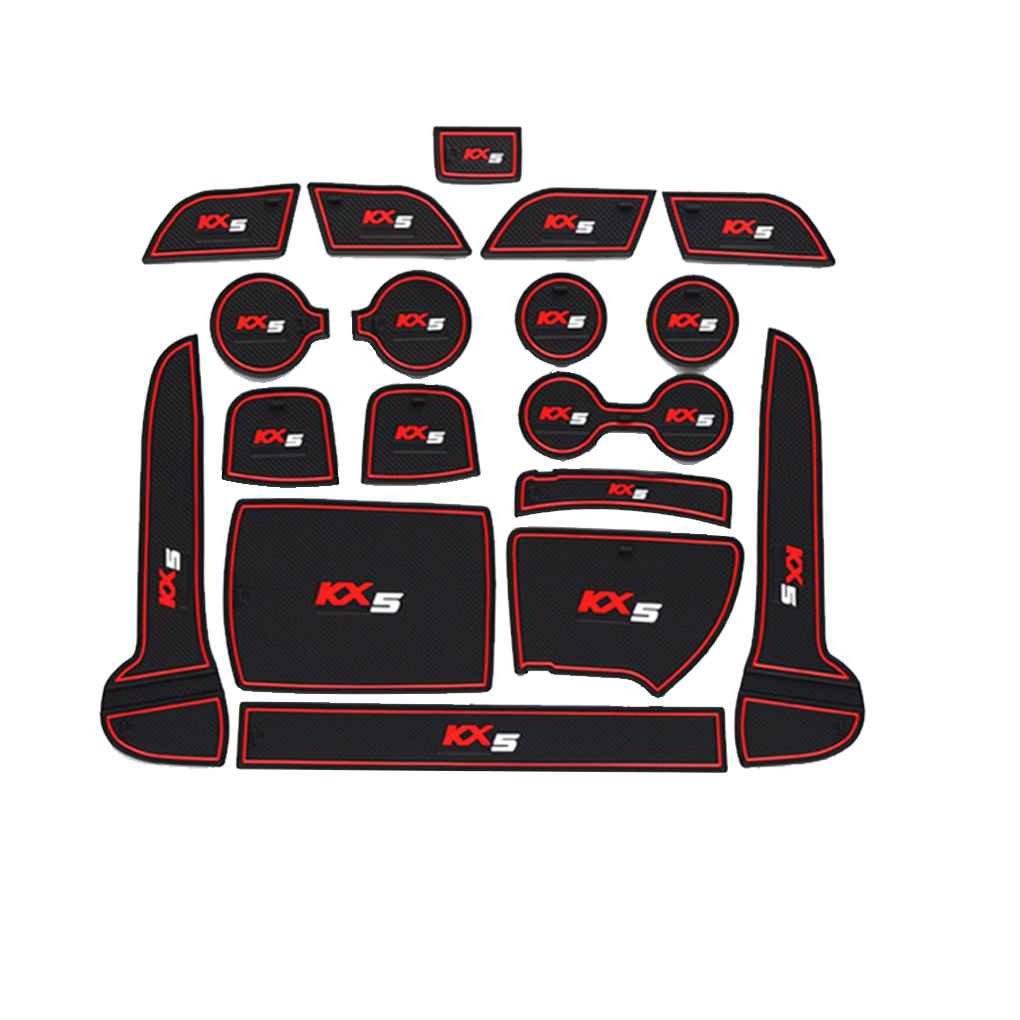 Providethebest Fü r Kia Sportage KX5 16-18 Anti-Blockier-System Tü r Groove Tor Slot-Auflage-Matte Kit Car Anti-Rutsch-Cup Mats Auto Dekoration Provide The Best AZprovide3491