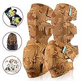 Innovative Soft Kids Knee and Elbow Pads Plus BONUS Bike Gloves | Toddler Protective Gear Set | Comfortable, Breathable & Safe | Roller-Skate, Skateboard, Rollerblade & BMX Kit w/Mesh Bag & Sticker