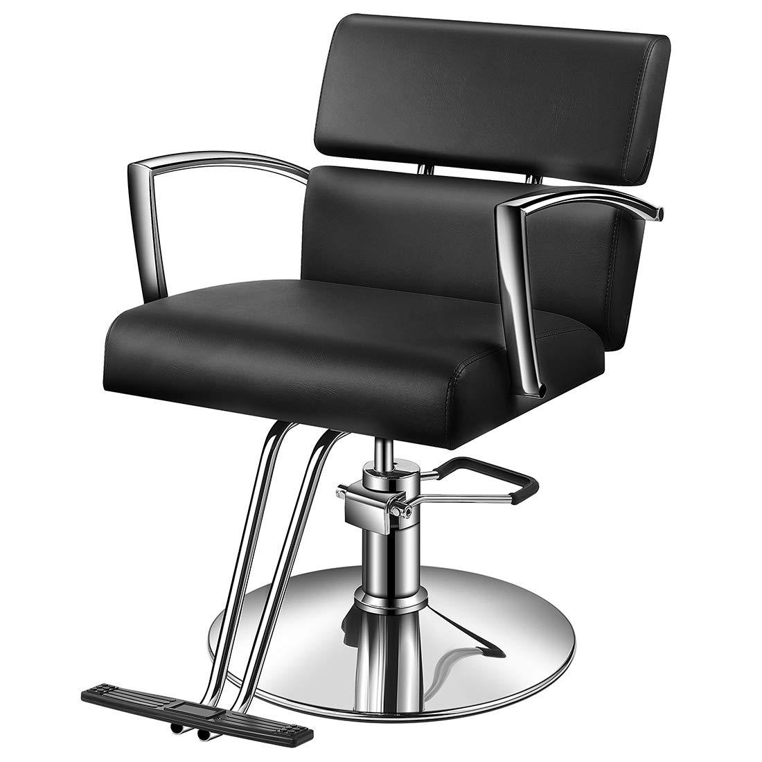Baasha Hair Salon Chairs with Hydraulic Pump, Salon Styling Chairs, Beauty Salon Chair Black, Beauty Hydraulic Chair, Barber Salon Chair, Hair Cutting Chair, Beauty Equipment Chair Hair Salon Black by Baasha