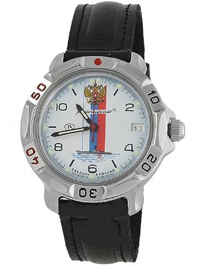 Vostok KOMANDIRSKIE 811330/2414 un militar ruso de las fuerzas especiales reloj azul marino Blanco
