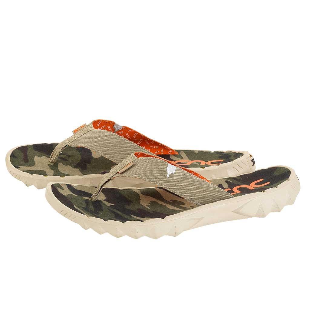 Dude Shoes , Herren Zehentrenner beige Beige & Multi Colour, beige - Beige & Multi Colour - Größe: 47