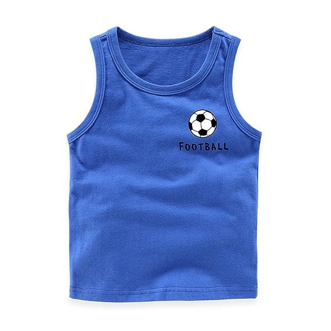932c85b2 Amazon.com: Mukola Toddler Soccer Tank Top Sleeveless Shirts for Boys  Football Graphic Tee Kids: Clothing