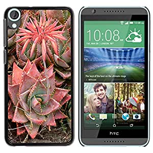 iKiki Tech / Estuche rígido - Desert Blossoming Flower Plant - HTC Desire 820