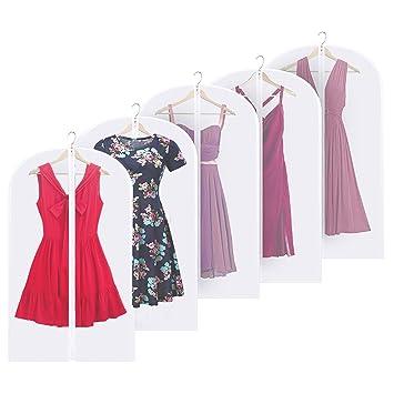 Dokpav 10 Stücke Kleidersack,120 x 60 cm Anzugsack Kleiderhülle Anzughülle mit Reißverschluss Transparent Atmungsaktiv Anzug