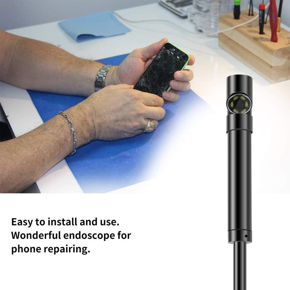 1280 720 PC Cam/éra noire Borescope dinspection dUSB de c/âble dobjectif noir de 6 LED 7mm pour lendoscope andro/ïde 640 480 t/él/éphones