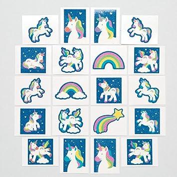Baker Ross- Calcomanías de Unicornios de Colores (Pack de 24) para niños -Bolsas Sorpresa de Fiestas Infantiles: Amazon.es: Juguetes y juegos