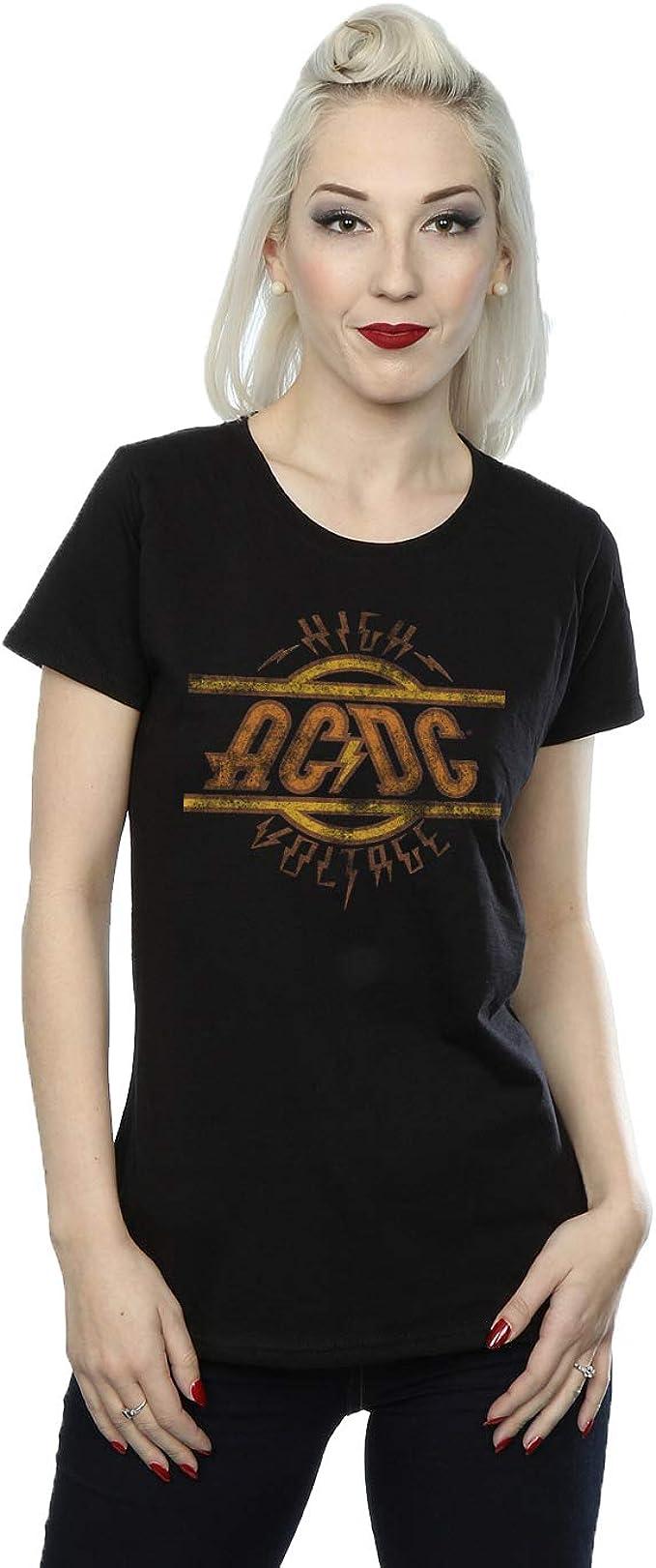 AC/DC mujer High Voltage Camiseta: Amazon.es: Ropa y accesorios
