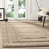 Safavieh Shadow Box Shag Collection SG454-1313 Beige Area Rug (5'3'' x 7'6'')