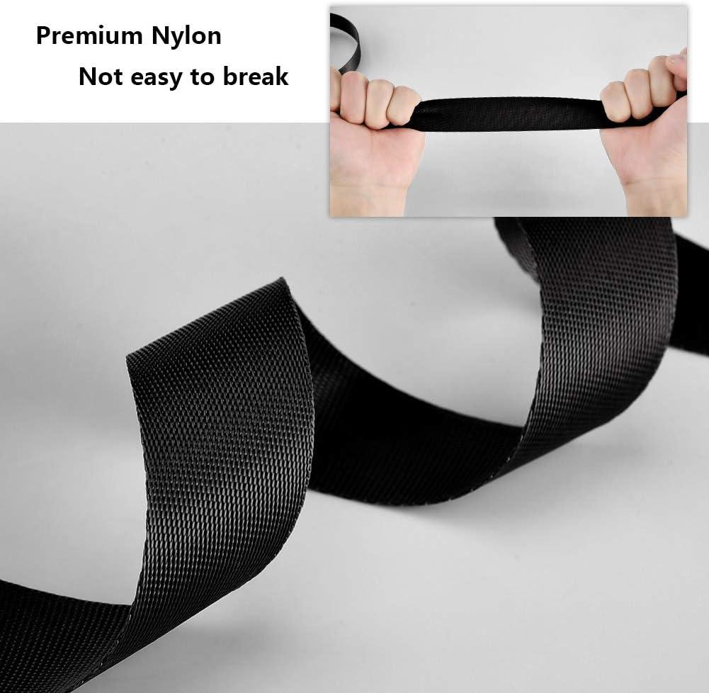 Negro Jalan Correa de cincha Nylon 25 mm x 10 Yards para Bricolaje arneses y Collares de Perro flejes de Mochilas