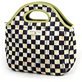 Lunch Tote Bag - Courtly Check Print Neoprene Lunch Tote – Reusable Lunch Box by MacKenzie-Childs