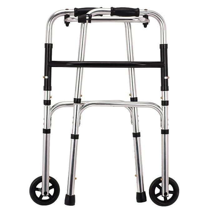 Plegable ligero andador de aluminio caminar walker con 2 ...
