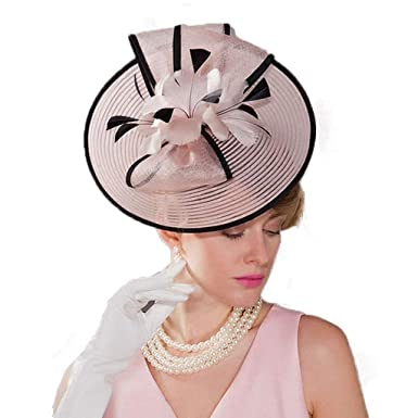 f893df5f4 Summer Wedding Hat for Women Vintage Pink Pillbox Hats Flowers ...