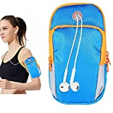 iPhone 7 Plus Sports Armband iPhone 6S Case, Mens Running Armband Blue Workout Exercise Arm Sling Bag for Apple iPhone 8 Plus/X/8/7/6 Plus/5/Samsung/LG, Cell Phone Bag for Runners,Jogging,Fitness,Gym