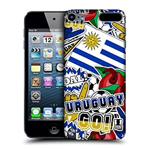 Head Case Designs Uruguay Football Country Icons Protective Snap-on Hard Back Case Cover for Apple iPod Touch 5G 5th Gen