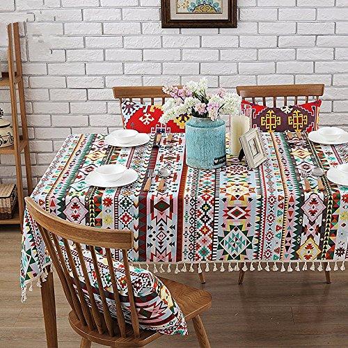 JinYiDian'Shop-Tissu en Coton, Nappe cirée Nappe Moderne Table Cloth Nappe, Seule, A, 140