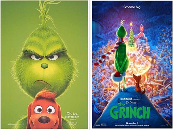 The Grinch 11 X17 D S Original Promo Movie Poster 2018 Benedict Cumberbatch Dr Seuss At Amazon S Entertainment Collectibles Store