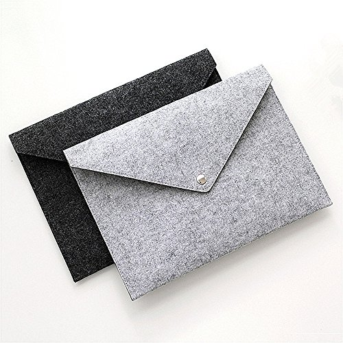 (File folders-Felt Folder Expanding File Folder Paper Portfolio Case Letter Envelope A4 Folders (2 Pcs))
