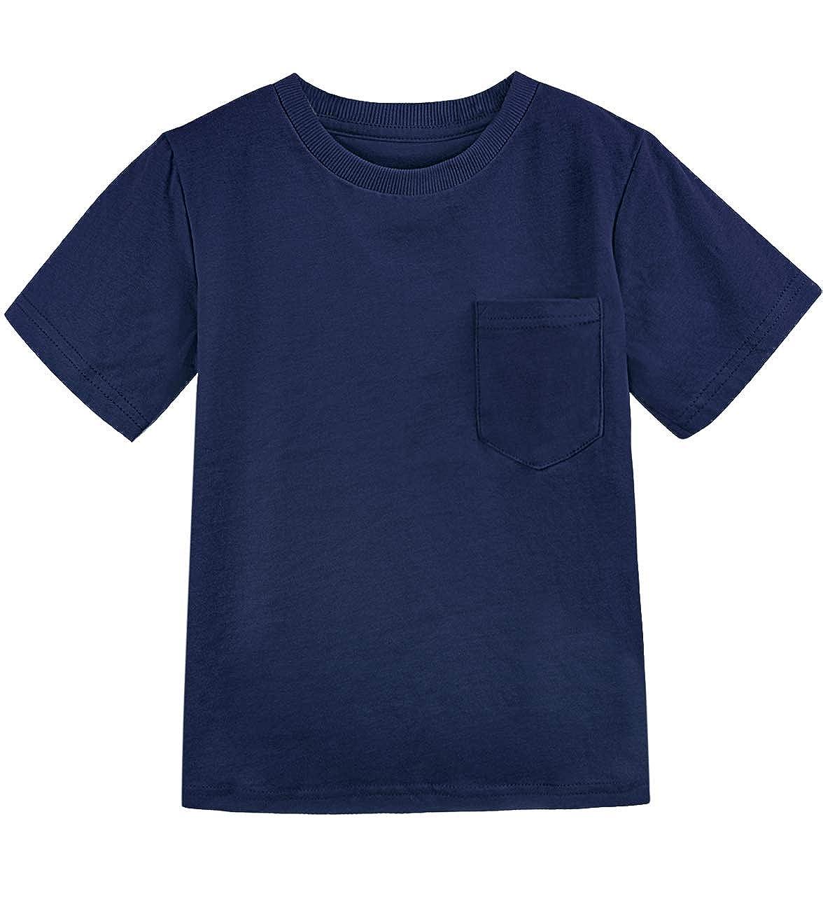 COSLAND Toddler /& Kids Boys Heavyweight Pocket T-Shirt