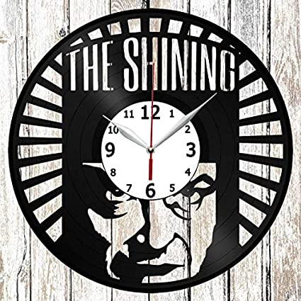 The Shining Vinel Record Wall Clock Home Art Decor Original Gift Unique Design Handmade Vinyl Clock