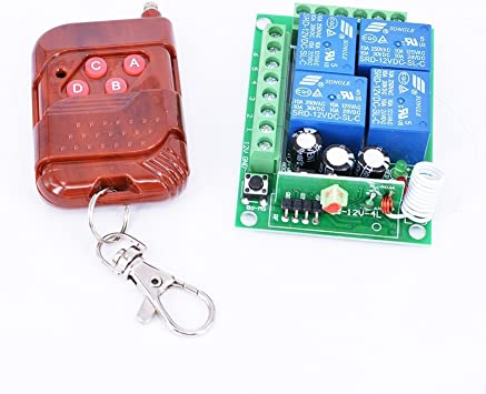 Hot DC 12V 2 CH Remote Control Switch Relay Momentary Transmitter With Receiver