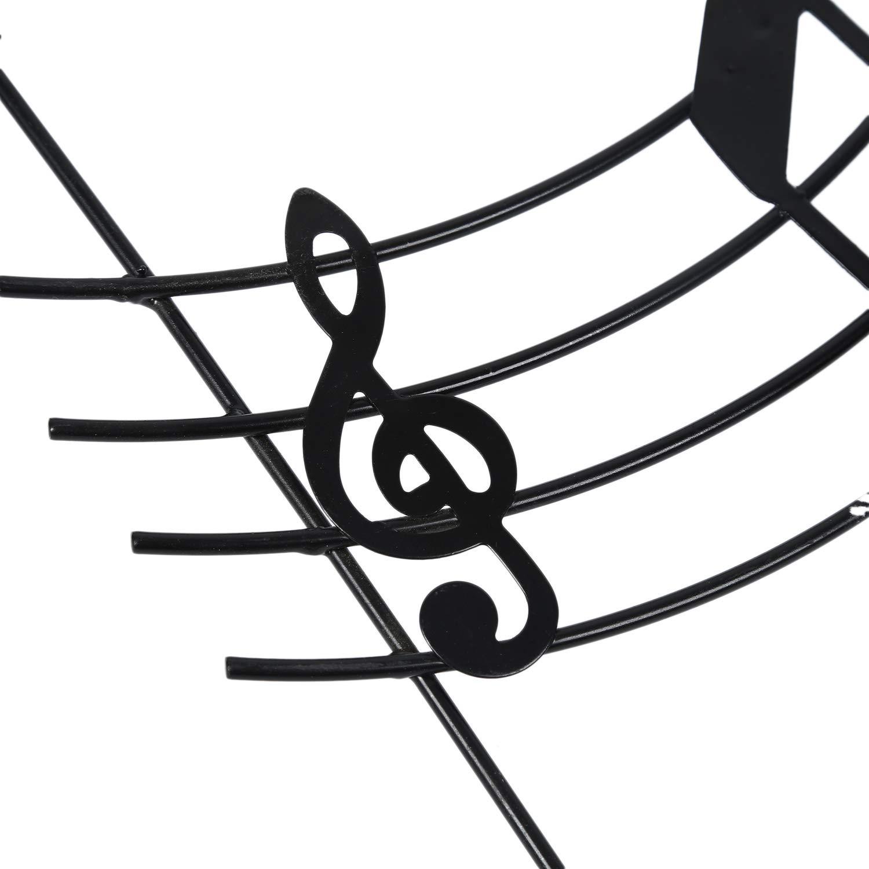 Negro ACAMPTAR Gancho de la Puerta de Nota Musical de Hierro Creativo Gancho Percha de Pared Fuerte Clavo Gratis
