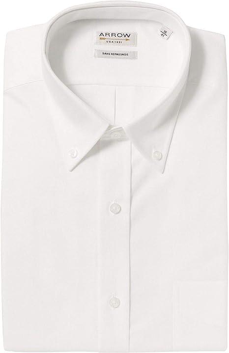 ARROW - Camisa Confort Fit algodón Oxford, Color Blanco: Amazon.es: Ropa y accesorios
