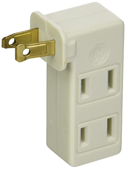 GE Lighting 67498 3-Way Polarized Outlet - Electrical Multi Outlets ...
